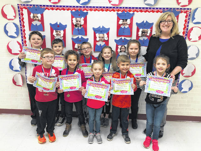 Point Pleasant Primary School (PPPS) February Students of the Month were recently chosen by their teachers and had lunch with Principal Vickie Workman. The honored students pictured with Principal Workman are Russell Milhoan, Emma Clark, Bentley McDaniel, Jeremiah Dudley, Jaelyn Wood, Madison Smith, Ella Leport, Kayden Petrie, Wyatt Shepard, Parker Johnson, Kenley Price, Riley Roush, and Emilee Darst.