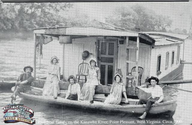 This is an image that was taken on the Kanawha River, it is a historical photograph of what a shanty typically looked like back in the day.
