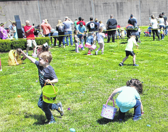 This young man is excited about what he's found at the Point Pleasant Easter egg hunt on Saturday at Tu-Endie-Wei State Park. The hunt was organized and sponsored by the Point Pleasant Presbyterian Church.