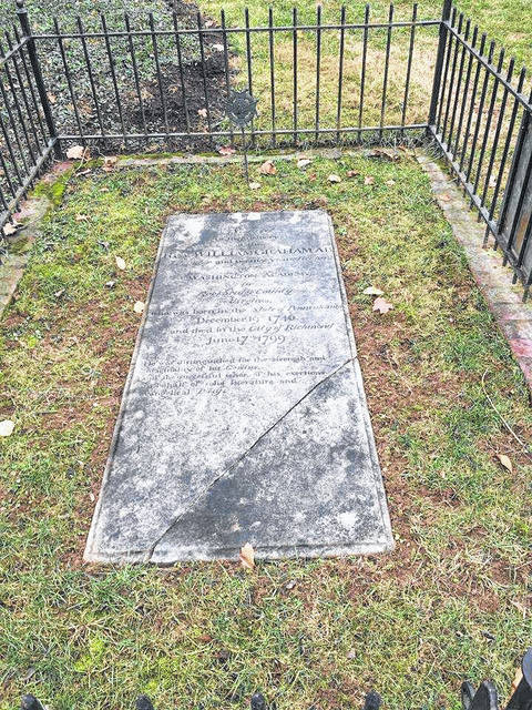 Reverend William Graham's grave on the grounds of Washington & Lee University, Lexington, Virginia.