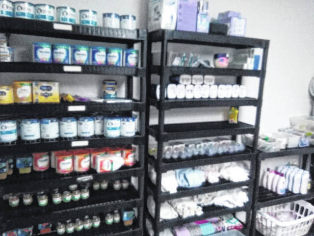 A look inside the Mason County Baby Pantry where a multitude of baby supplies are stored for mothers-in-need as well as soon to be mothers.