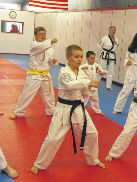 Students of Tae Kwon Do learn not only fighting skills, but also about what is right and what is wrong during their studies.