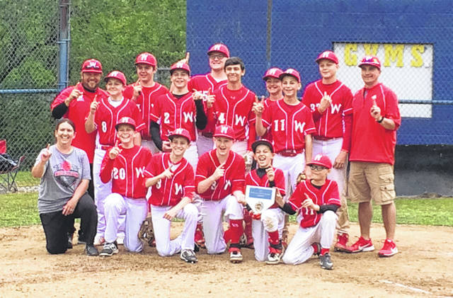 The Wahama junior high baseball program improved its record to 15-1 overall while claiming the 2019 Guyan Valley Middle School Tournament championship last week. The White Falcons opened the tournament with an 18-0 victory over Hamlin, then beat Valley Fayette in the semifinals by a 12-0 count. Wahama then defeated Wayne by an 8-1 count in the championship round. The Wahama junior high baseball team is coached by Lori Zuspan, Eric Barnitz and Joel Lloyd.