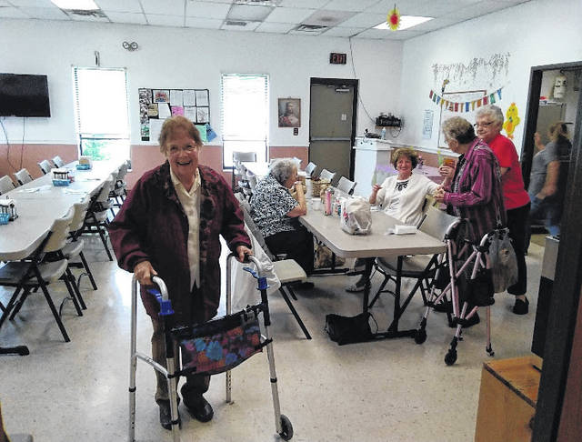 Pictured are local senior citizens enjoying lunch at the Mason Senior Center.