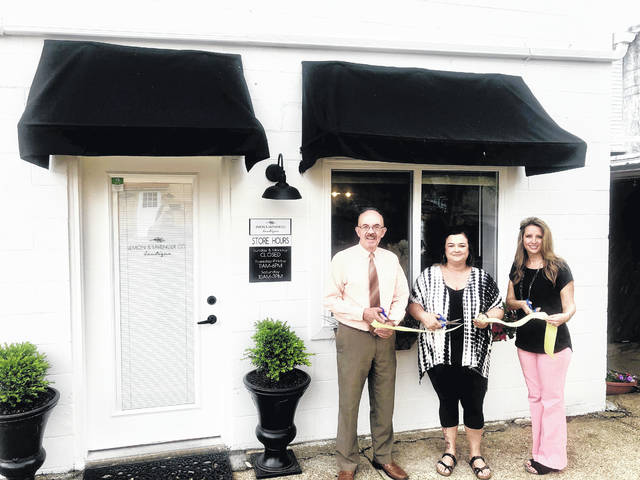 Lemon & Lavender Co., a locally owned clothing and accessories boutique, complete with other unique gift items, will celebrate its grand opening at 515 Main Street in downtown Point Pleasant on Saturday, May 11. Pictured celebrating the store's ribbon cutting on Friday are, from left, Mayor Brian Billings, Owner Monica Sayre and City Clerk Amber Tatterson. The store is open from 11 a.m. - 6 p.m., Tuesday-Friday and 10 a.m. - 3 p.m. on Saturday. Find the store on Facebook or call 304-857-6506 for more information.