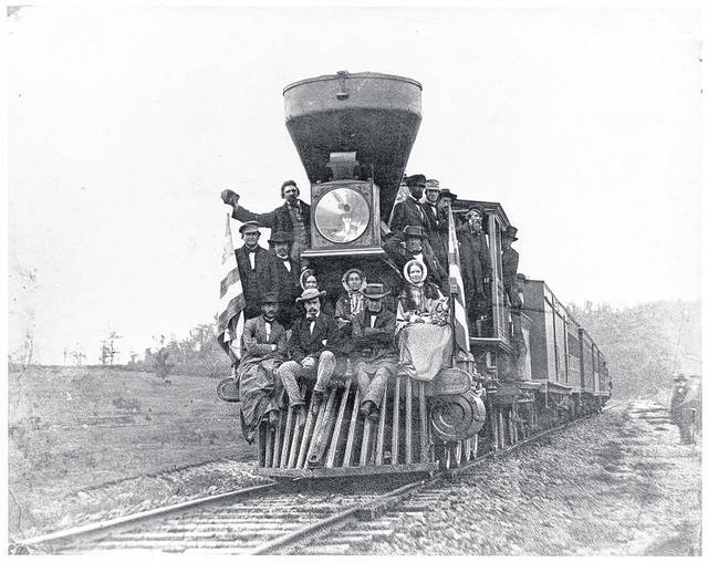 The Artists' Excursion left Baltimore on its way to Wheeling. A Baltimore & Ohio executive planned the rail trip to promote tourism.