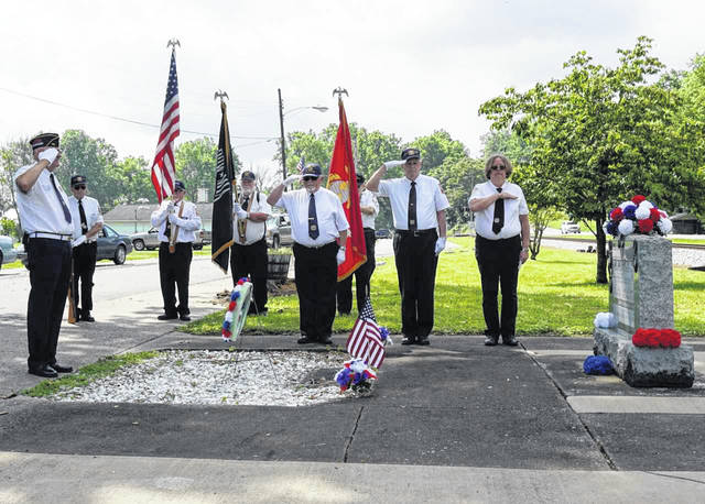 A final salute was given to the fallen military members at a service in Hartford Monday by members of the Smith-Capehart American Legion Post 140 of New Haven and Stewart-Johnson V.F.W. Post 9926 of Mason.
