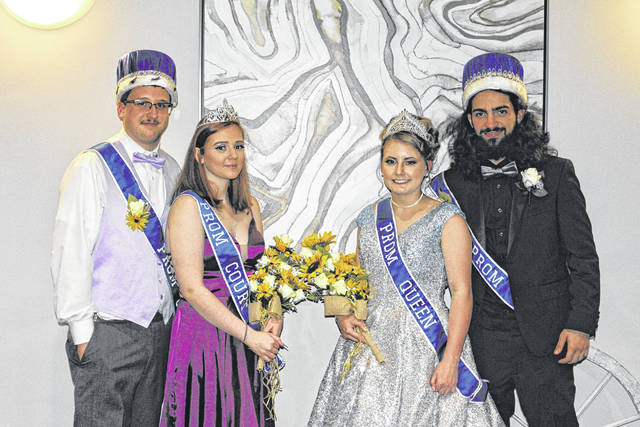 """Hannan High School recently held its junior/senior prom at the Holiday Inn Express in Barboursville with a """"Rustic Romance"""" theme. Pictured from left, are prom royalty, Prom Prince Jordan Craft, Prom Princess Violet Moore, Prom Queen Pammie Oachs, Prom King Davi Chaves."""