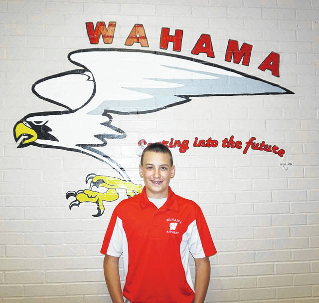Ashton Barnitz, a first year Wahama Archery Team member, qualified for national competition this month. He will travel to the Kentucky Fair and Exposition Center in Louisville, May 9-11, to compete in the U.S. Eastern Nationals.