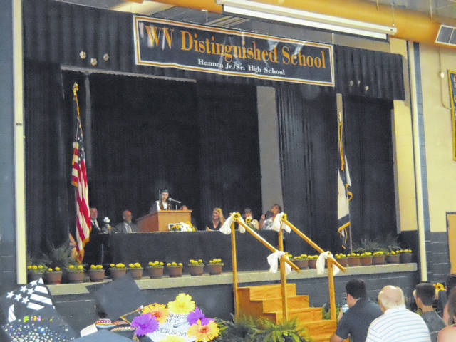 Alyssa Peyton while she was giving her student address.