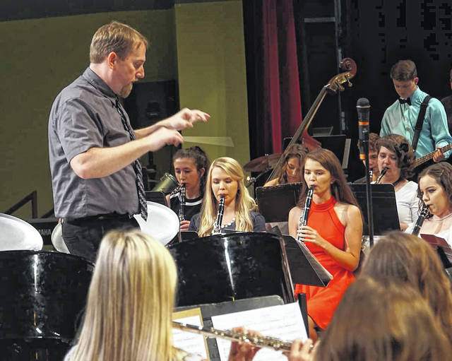 Pictured is Ben Loudin directing his students during last year's spring concert.