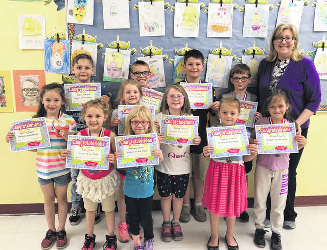 Point Pleasant Primary School (PPPS) recently announced Students of the Month for April. These honored students were recognized for their kindness to others and enjoyed a lunch with Principal Vickie Workman. Pictured with Mrs. Workman are Austin Dean, Reid Martin, Abbigale McClary, Mason Pethtel, Griffin Jeffers, Alivian Sheets, Camilla Sayre, Makenzie Lewis, Brylon , Creedence Simpkins, Ava Miller, and Brody Deweese.