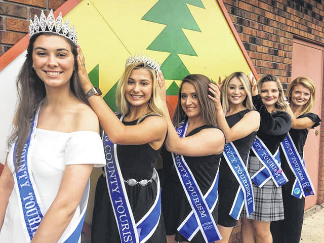 Kenlee Bonecutter makes the sixth Tourism Queen to be crowned since the contest started in 2014. Pictured are the former titleholders with Bonecutter, from left, Bonecutter, 2019; Kaylee Hartley, 2018; Leslie Meade, 2017; Destiny Brown, 2016; Amanda (Baker) Fellure, 2015; and Emily Hussell, 2014.