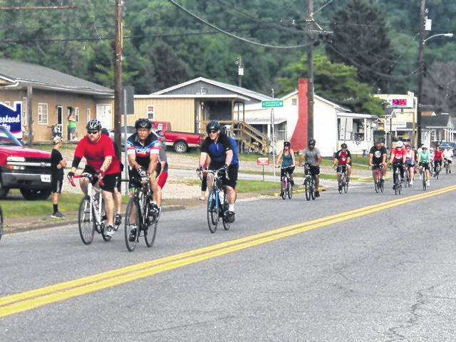 A total of 28 bikers participated in the eighth annual Wahama Bike Race/Ride, held Saturday in New Haven. Nathan Pickens won the event, riding the 24 miles in a total of 66.467 minutes.
