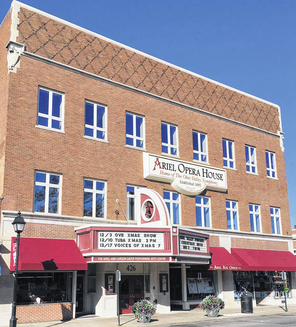 The Ariel Opera House is located at 426 Second Avenue, Gallipolis.