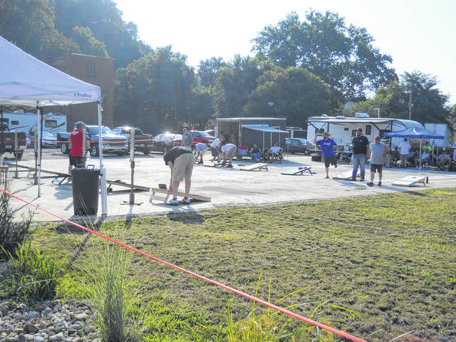 Maple Lawn Brewery hosted a Corn Hole Clash Tournament on Friday evening and Saturday morning of the Blues Bash.