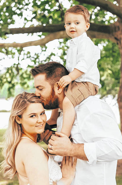 Sarah Renee Stamper and Brandon William Joseph Rickard pictured together with their two year old son Joshua David Matthew Rickard.