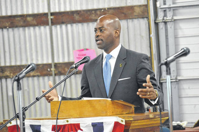 Last year's Emancipation Celebration speaker, Dr. Anthony Jenkins of West Virginia State University urged celebration crowd members to look to the future and remember the trials and tribulations US citizens had come through to make the country what it is today.