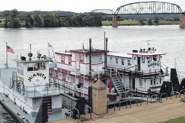 Pictured are a few of the 14 boats already docked at Riverfront Park ahead of the annual Tribute to the River Festival which begins Thursday and wraps up Saturday with fireworks and music along the Ohio River.