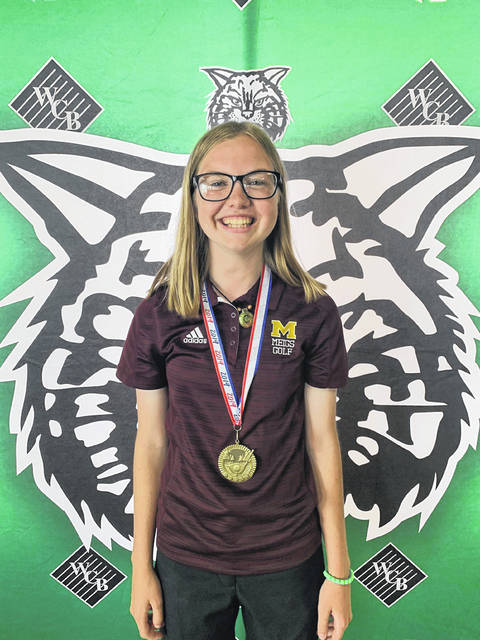 Meigs junior Caitlin Cotterill won medalist honors in the girls division Wednesday at the 2019 Waterford Invitational held at Lakeside Golf Course in Beverly, Ohio.