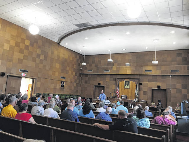 On Wednesday, the Mason County Commission hosted a meeting regarding the condition of the roads in the county and the road repairs that are needed, so residents could voice their concerns.