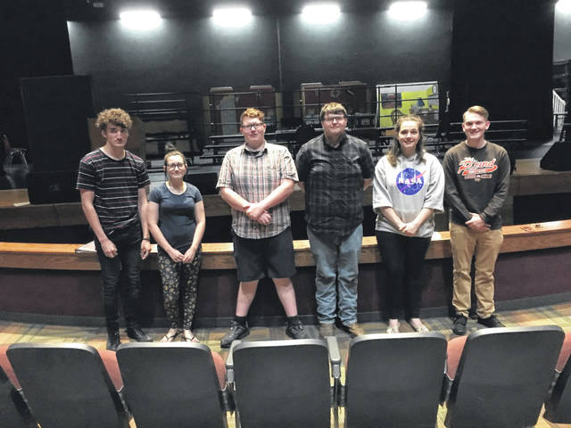 "Point Pleasant High School drama students who were able to participate in the filming of an episode of ""Expedition Unknown"" include, from left, Eli Burns, Jena McCarthy, C.J. Thornton, Kevin Jones, LeeAnn Anderson, and Jarred Fairchild."