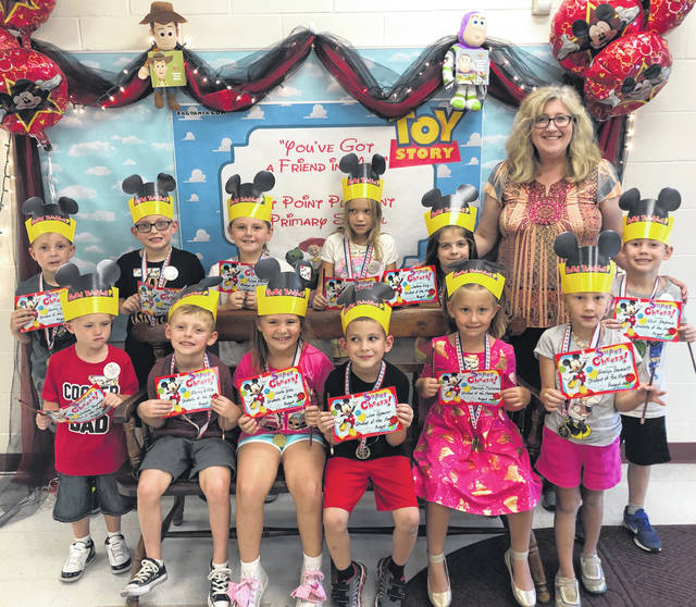 The Point Pleasant Primary School (PPPS) Students of the Month for August were recently selected by their teachers and enjoyed a lunch with their principal, those pictured with Mrs. Workman, from left, are Isaac riffle, Jealeen Kay, Rylynn Blazer, Taylor Johnson, Liam Spencer, Wyatt Shepard, Mariah McCormick, Elliot Stephens, Bentley Wise, Noelle Glenn, Joshua Reynolds and Evelyn Bennett.