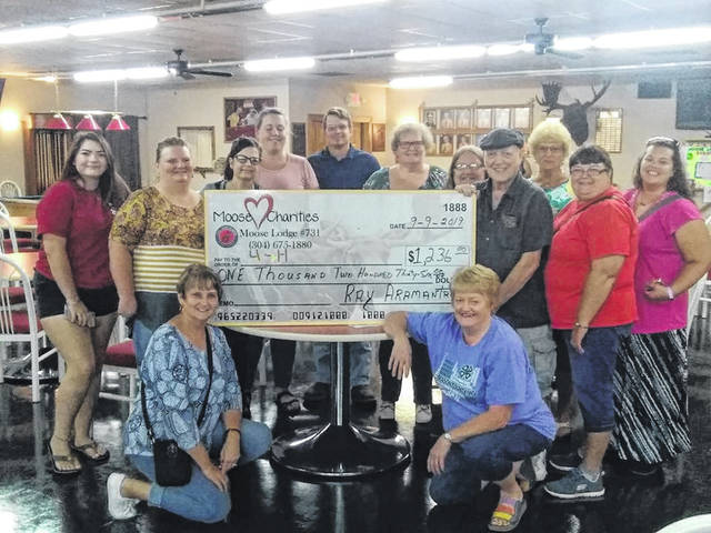 The funds raised for last special charity bingo night in support of the Mason County 4-H program was $1,236.