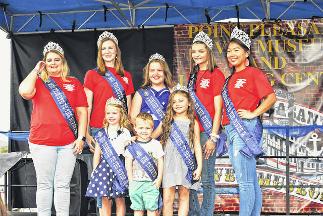 Pictured are this year's royal court representing the 2019 Tribute to the River festival, back row, from left, Mrs. Tribute to the River Sarah Thompson, Ms. Tribute to the River Morgan Perrine, Junior Miss Tribute to the River Reghan Cossin, Teen Miss Tribute to the River Hannah Kersey, Miss Tribute to the River Gracie Queen; front row, from left, Little Miss Tribute to the River Braylon Sweeney, Little Mister Tribute to the River Anders Brown and Young Miss Tribute to the River Kabella Fisher. Ashley Durst is the pageant director. More from Tribute to the River inside this edition and online at www.mydailyregister.com.