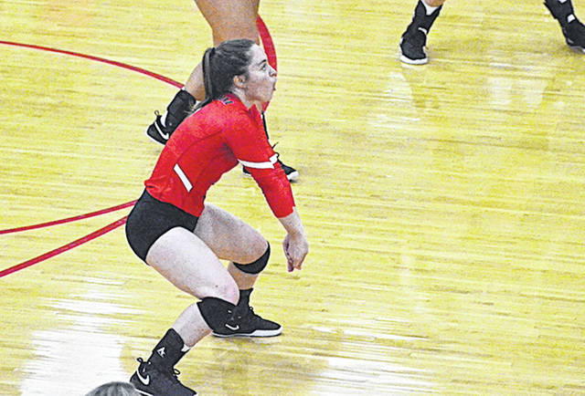 Rio Grande's Katie Hemsley played big roles in both of Saturday's wins over UC-Clermont and Penn State-Dubois.