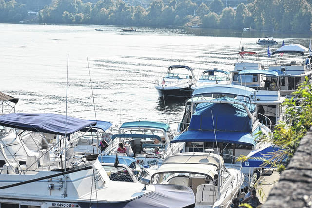 A view from the levee in Pomeroy during last weekend's Sternwheel Regatta.