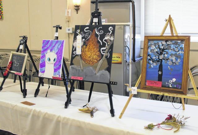 Several paintings were among the items on display during the annual Art in the Village event.