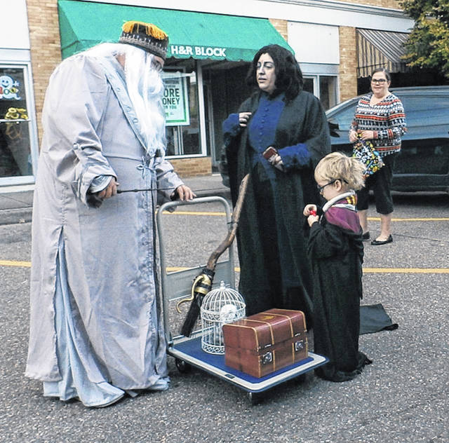Point Pleasant Halloween Block Party goers dressed in Harry Potter wear during last year's event.
