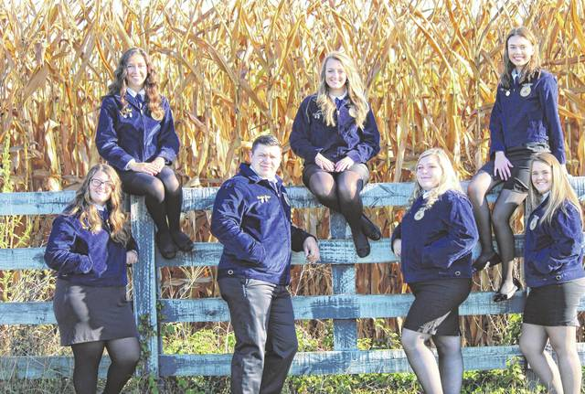 Mason County Vocational FFA Chapter's newly elected officer team includes President Crimson Cochran, Vice President Clairy Keefer, Secretary Hannah Wood, Treasurer Hannah Spurlock, Reporter Trenton Mayes, Sentinel Penelope Haught and Historian Shaya Robinson.