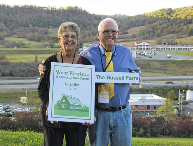 Pictured are Alice and Don Hussell, finalists in the West Virginia Conservation Farm of the Year.