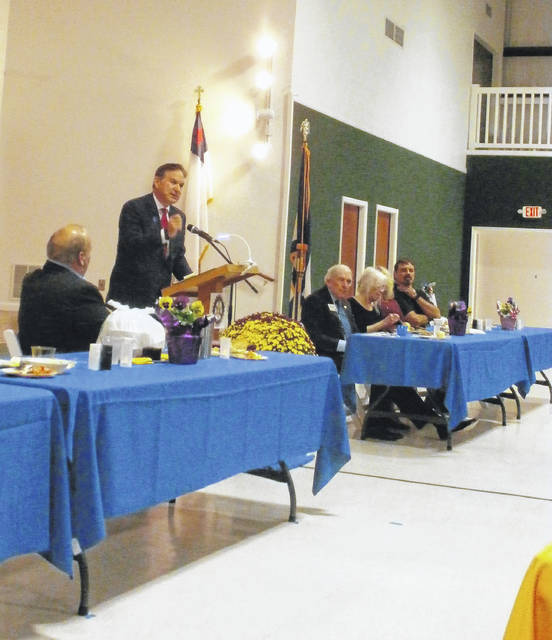 United States Attorney Michael Stuart was the keynote speaker for the annual law enforcement appreciation banquet.