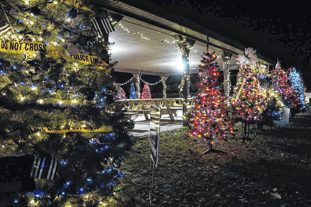 "A second year of ""Trees in the Park"" has been announced for the Stewart-Johnson V.F.W./Lottie Jenks Memorial Park in Mason. The public is invited to participate in the free event by setting up artificial or live decorated trees between Nov. 30 and Dec. 7, where they will remain until after Christmas. Pictured is a scene from the inaugural event."