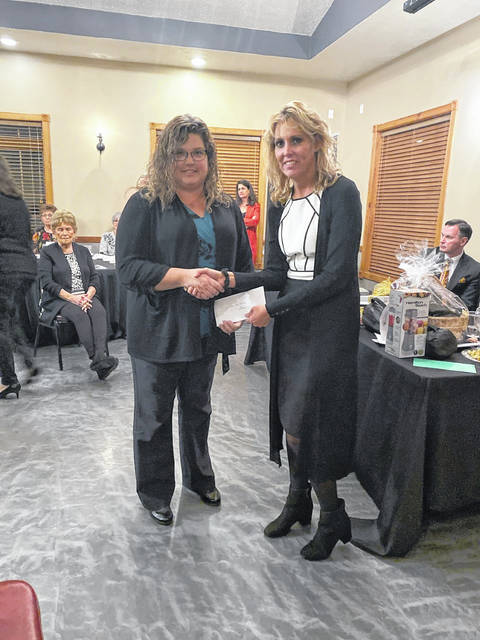 Beale Elementary received $1,500 for puppet performances from the Jackson Foundation. Pictured are Community Foundation Executive Director Christy Sizemore and Alisha Wallis from the school.