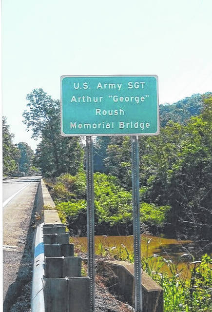 The bridged dedicated earlier this year to Army Sgt. Arthur George Roush.