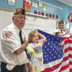 Students learn flag etiquette
