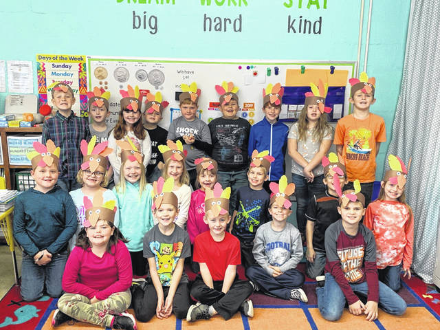 Pictured are second graders in Ms. Pickens' class at Leon Elementary School. Students provided recipes for cooking the perfect turkey for readers of the Point Pleasant Register.