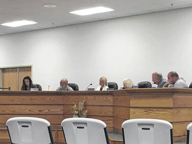Pictured are members of the Mason County Board of Education during the recent, regular business meeting. Pictured from left are Ashley Cossin, Dale Shobe, Meagan Bonecutter, Rhonda Tennant, Supt. Jack Cullen, and Board President Jared Billings.