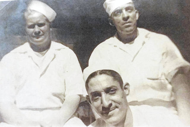 The late Wayne Kincaid, Sr., pictured far left, while serving in the United States Navy working as a cook on large naval ships during World War II. Kincaid was a native of Point Pleasant.