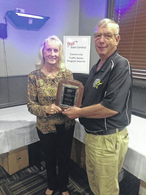 Retired Cpl. Ronnie Spencer accepted the AAA Silver Award for the Community Traffic Safety Program on behalf of the Mason County Sheriff's Department.