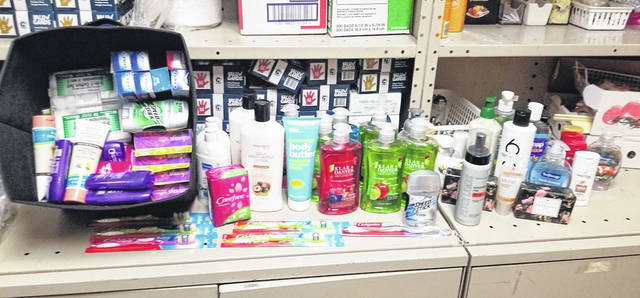 Pictured are some of the items the SkillsUSA Club has collected for students and shelter residents in need.