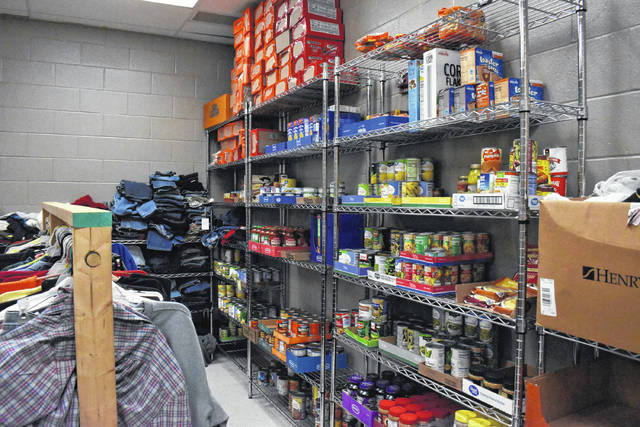 Point Pleasant Junior/Senior High School relies on the community to keep the food pantry stocked for students and families in the school.