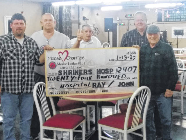 The Point Pleasant Moose Lodge #731 raised over $2400 for Shriners Hospital during its January charity bingo event.