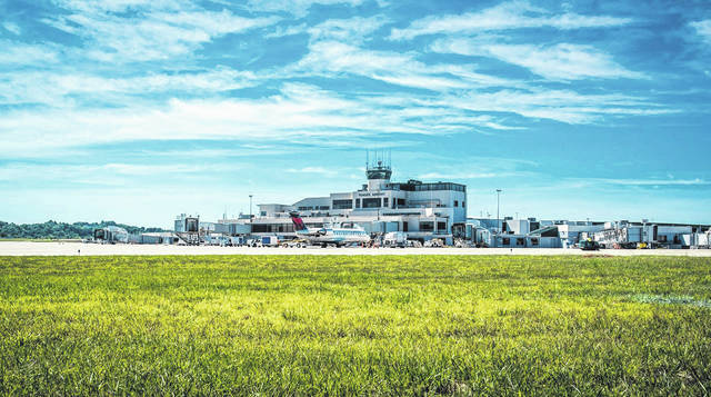 A view of Yeager Airport in Charleston, W.Va.