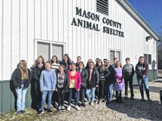 Members of the Haer Bears 4-H Club delivered supplies to the animal shelter.