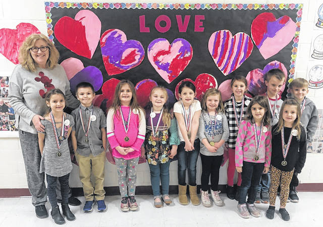 The Point Pleasant Primary School's Students of the Month were chosen for February on the basis of their kindness to others and being good students for their teachers. Pictured with Principal Vickie Workman are Kyleigh Blazer, Ashley Jones, Aiden McCarthy, Kinsley Dewitt, Brooklynn Deshuk, Kenley Price, Madison Abner, Noah Rodgers, Savannah Grady, Caleb Ferrell, Jaelyn Berkley, Braxton Donahue, Leah Frazier and Ryker Myers.